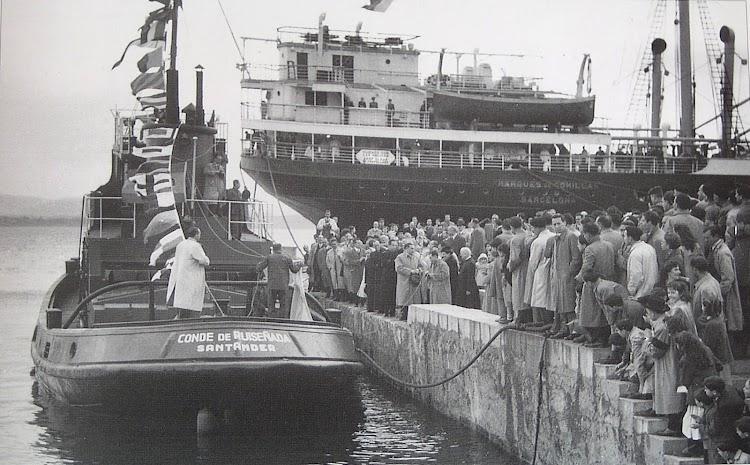21 de noviembre de 1950. Bautizo en Santander del CONDE DE RUISEÑADA. Del libro 19 MERCANTES Y UN DESTRUCTOR.JPG