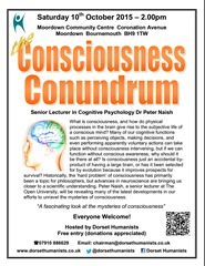 Consciousness Conundrum 10 October 2015