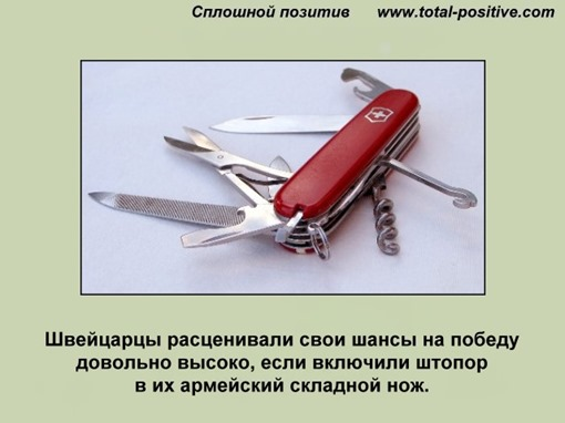 Раскрытый армейский швейцаский нож с ножницами, крючком и штопором...