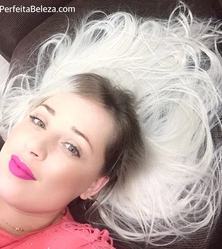 tatiane sanches, perfeita beleza, cabelo platinado