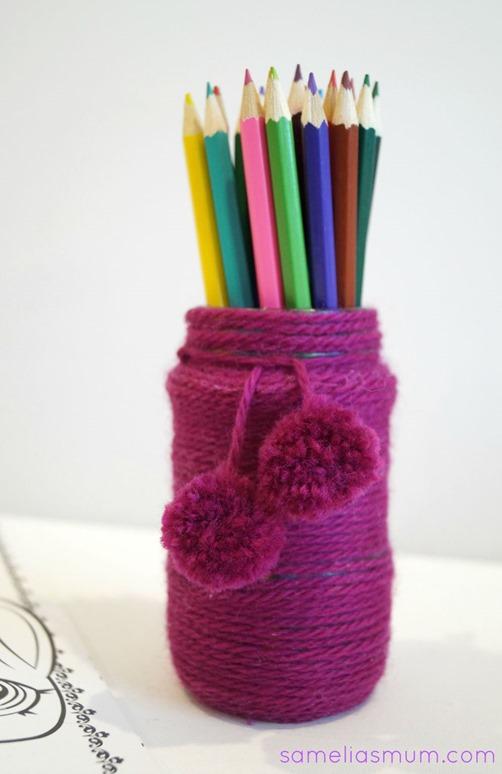 Pencil Pots - Yarn Project