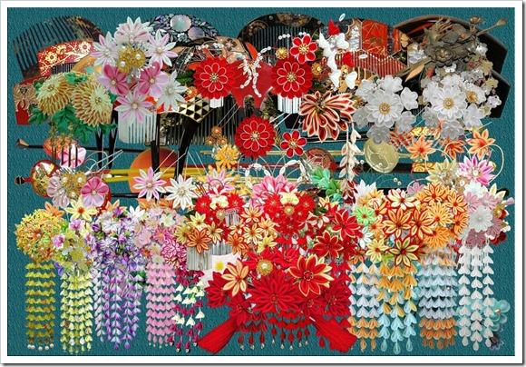 Multi design hairstyles flowers elements