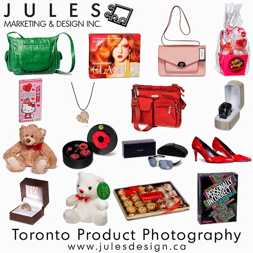 Toronto Product Photographer for Special Events and Holiday Merchandise <br /><br />Get ready! Another holiday is soon and fast upon often just as the other passes. Jules Design produces product shots for retail and commercial merchandise catalogues.<br /><br />Our in-studio and on-location capabilities allow us to execute with speed and quality great product shots.  With advanced photography skills and equipment, we are apt at photographing a wide spectrum of items from the very small to large with high colour accuracy, detail and mostly reflection free.<br /><br />About Our Commercial Photography Business<br />Our facility is located near the DVP and Eglinton in Toronto.  We provide on-location service within the entire Ontario region.  As we strive to be our Customer's business partners, we seek to offer competitive pricing and exceptional value.  As a marketing centric media production company, we produce product shots ready for immediate use as graphic design elements for your marketing initiatives.  <br /><br />Holiday & Valentine Product Photography by Jules Design<br />T: 647.997.2793<br />E: jules@julesdesign.ca<br />W: http://www.julesdesign.ca/Toronto-Product-Photography.html