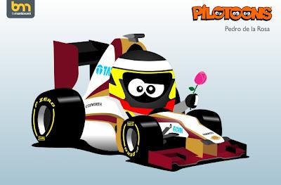 Педро де ла Роса HRT F112 pilotoons 2012