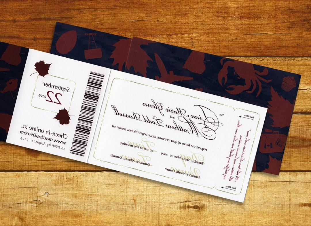 your invitation card,