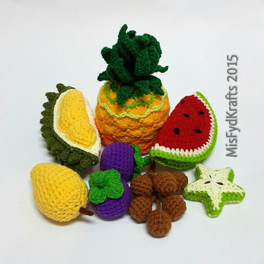 Amigurumi Fruit : MisFydKrafts: Malaysian Tropical Fruits Crochet Amigurumi