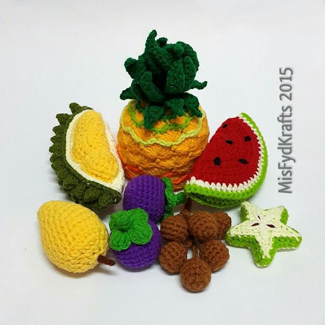 Tuto Amigurumi Fruit : MisFydKrafts: Malaysian Tropical Fruits Crochet Amigurumi