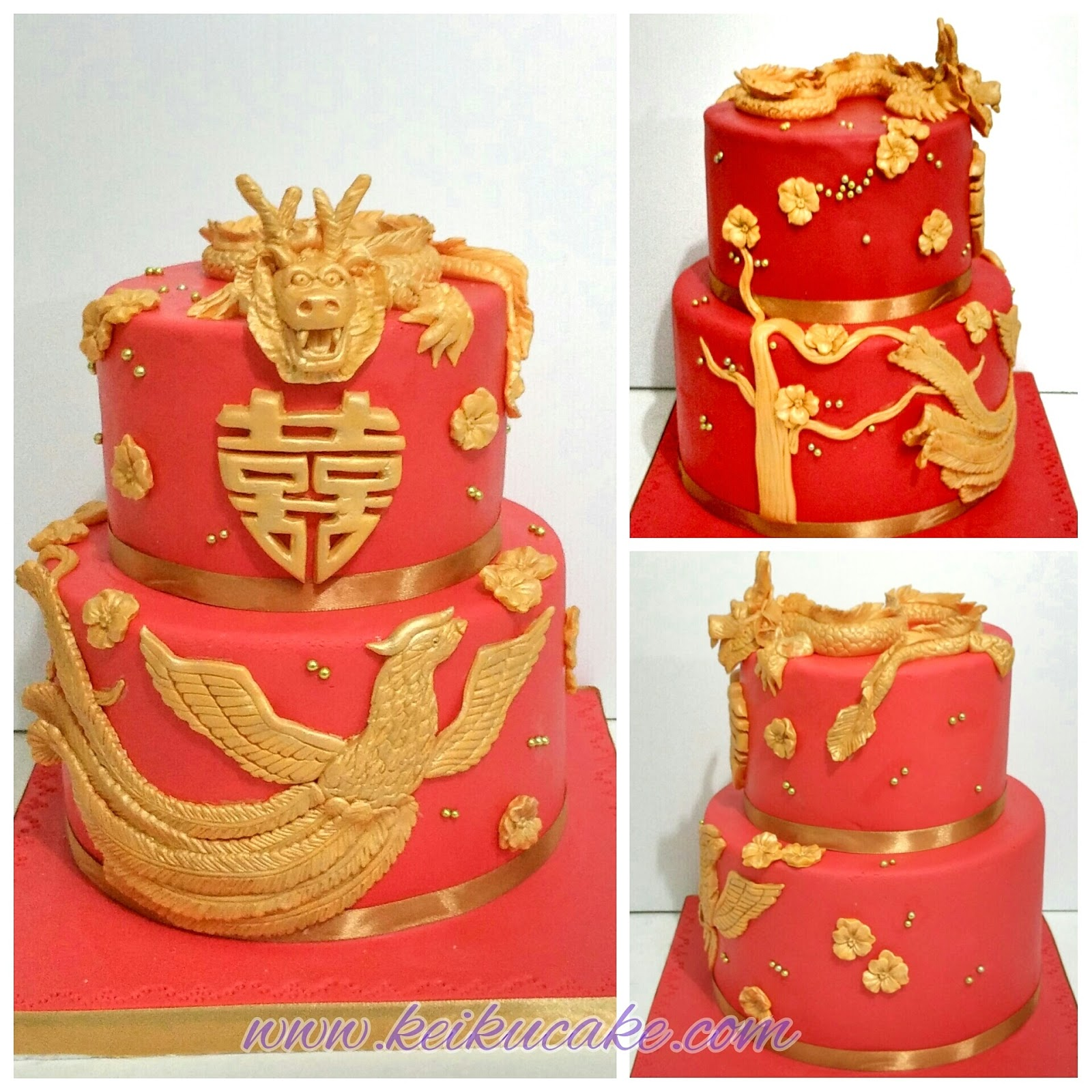 Keiku Cake Hello kitty theme engagement cake and Dragon Phoenix