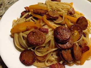 Andouille Sausage and Linguine