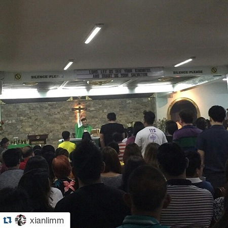 Xian Lim attends birthday mass