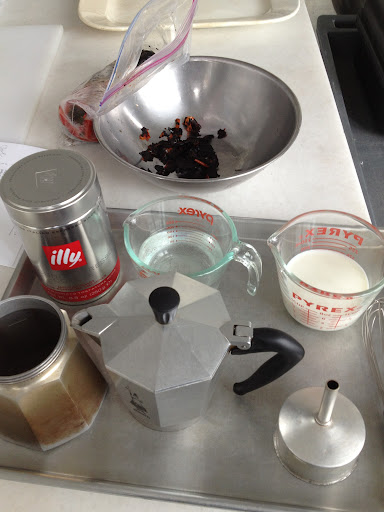 Prep 1/2 sheet pan for my cappucino