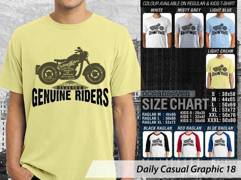 Kaos keren Daily Casual Graphic 18 Harley Davidson distro ocean seven