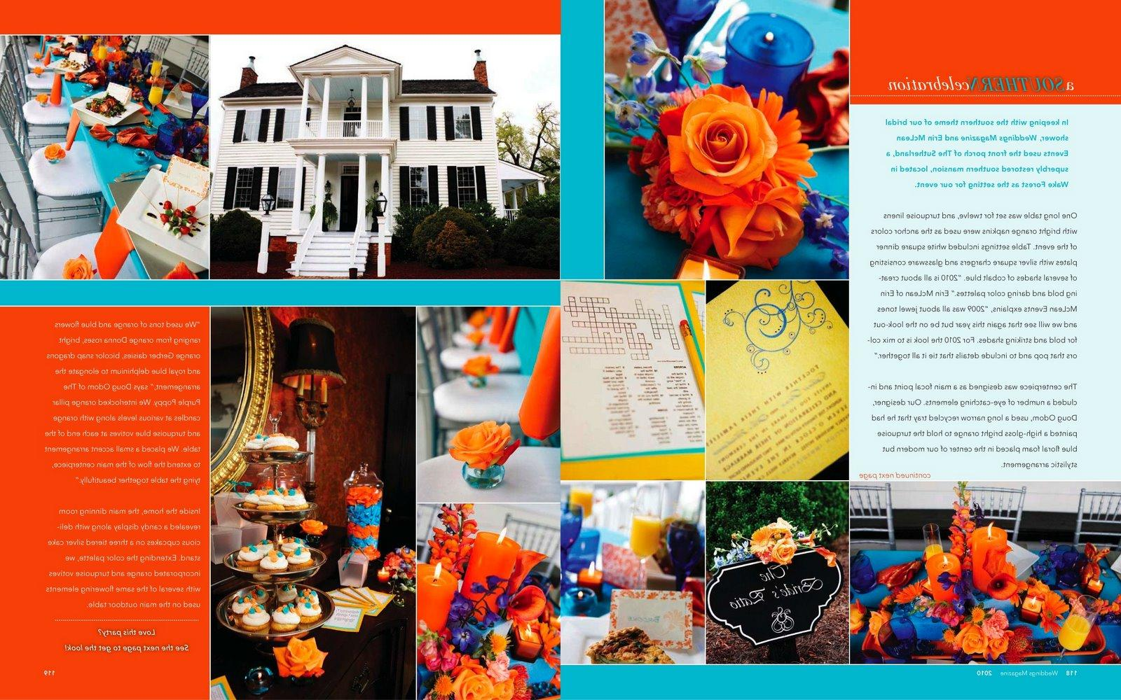 Orange and Aqua Weddings