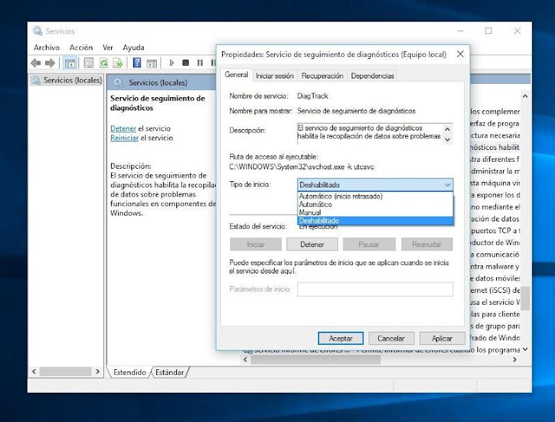 Windows-10-Telemetría-deshabilitada
