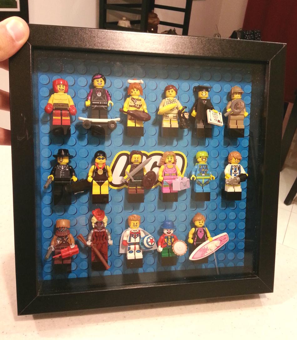 Super Les Lego de Ludo: Cadre pour minifig JX07