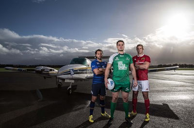 REPRO FREE***PRESS RELEASE NO REPRODUCTION FEE***<br />Life Style Sports Launches its International Online Delivery Service, Weston Airport, Dublin 18/11/2015<br />Life Style Sports, official sponsor of Connacht Rugby and retail partner to Leinster and Munster Rugby, today launched its international online delivery service. On hand to help launch this unique service that will see rugby jerseys and associated apparel delivered to over 200 countries worldwide were Munster's Mark Chisholm, Leinster's Isa Nacewa and Connact's Quinn Roux. <br />Pictured today (L-R) Isa Nacewa, Quinn Roux and Mark Chisholm<br />For more information: www.LifeStyleSports.com<br />Mandatory Credit ©INPHO/Dan Sheridan