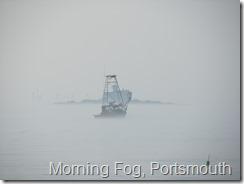 005 Lobster boat leaving Portsmouth in morning fog