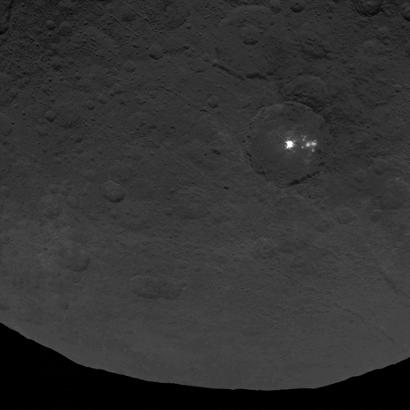manchas na superfície de Ceres