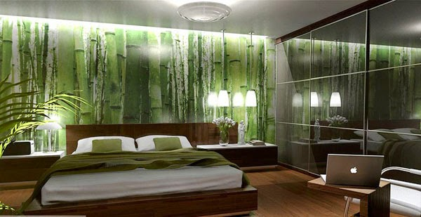 Tapete schlafzimmer grün  Wandtapete Schlafzimmer – progo.info