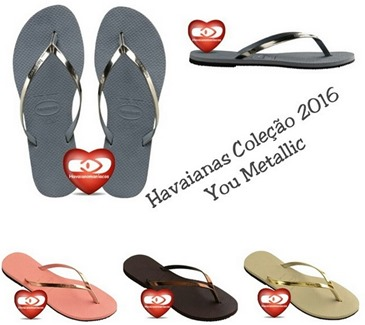 you metallic havaianas