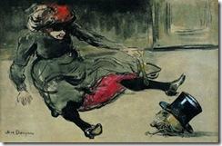 Bebedora de absenta en la calle, 1902