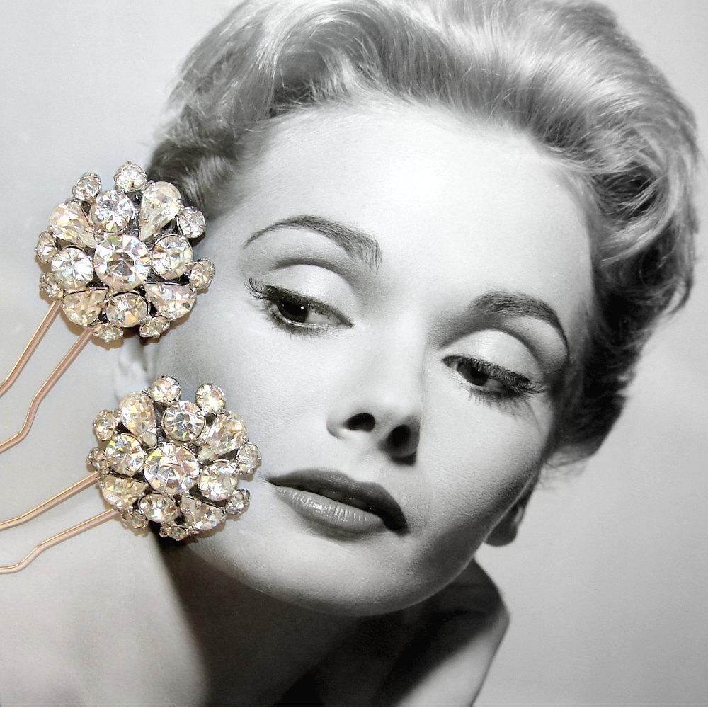 Black Friday Etsy SALE 20  ... Wedding Accessories Vintage Rhinestone Hair