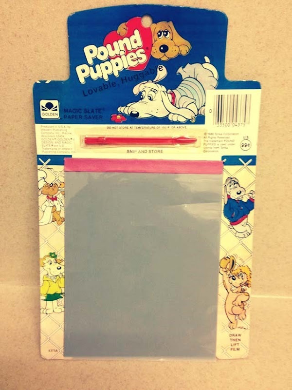 Pound Puppies Blue Magic Slate Paper Saver