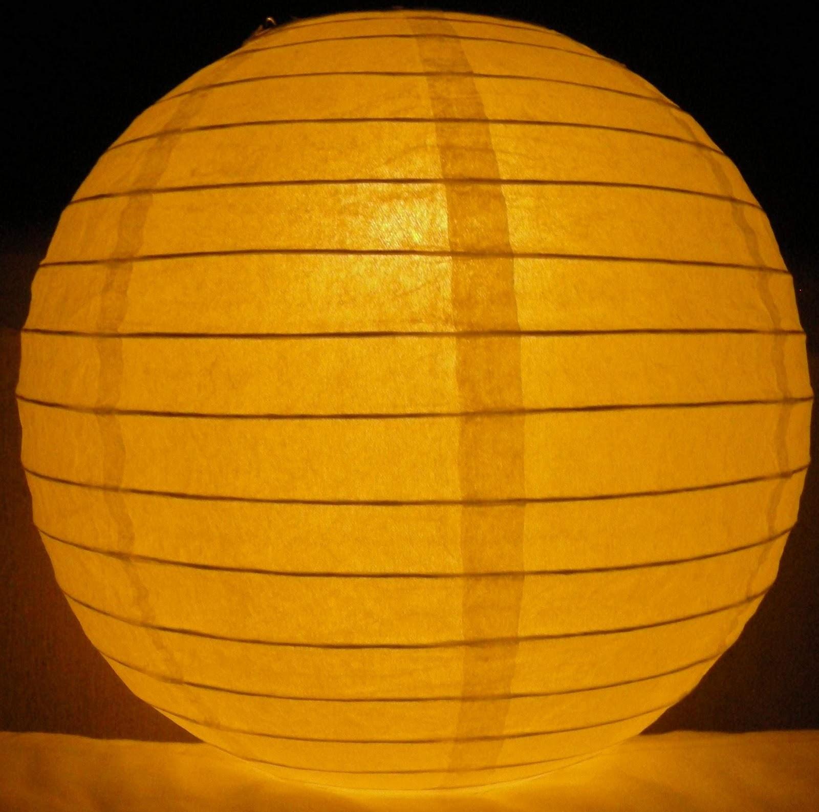 10 round white paper lanterns
