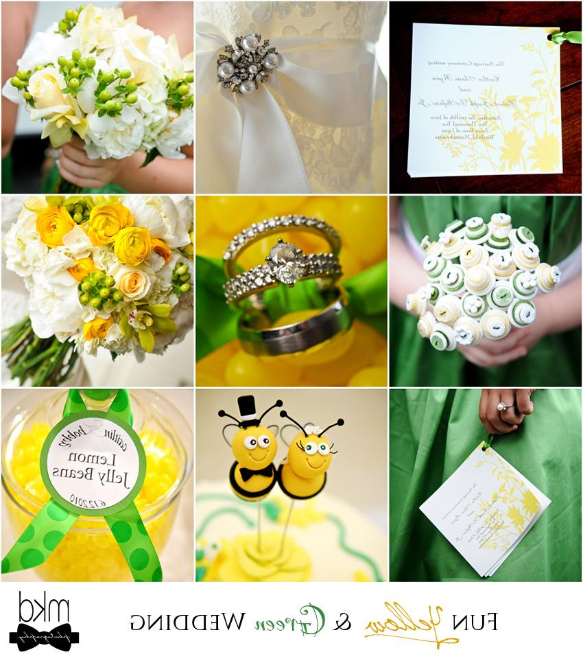 yellow and green wedding  by