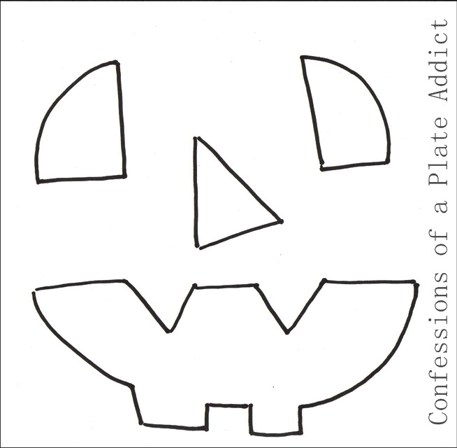 CONFESSIONS OF A PLATE ADDICT Halloween Pillow Template