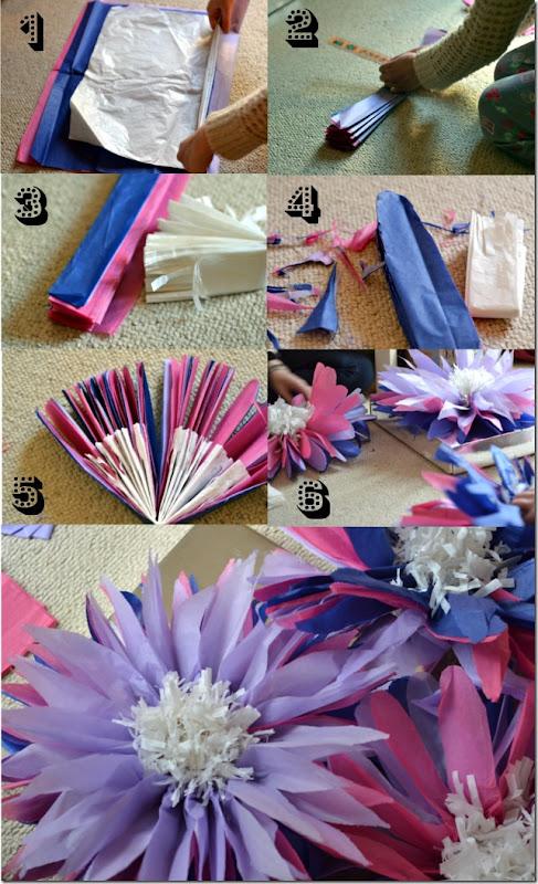 flor gigante papel de seda