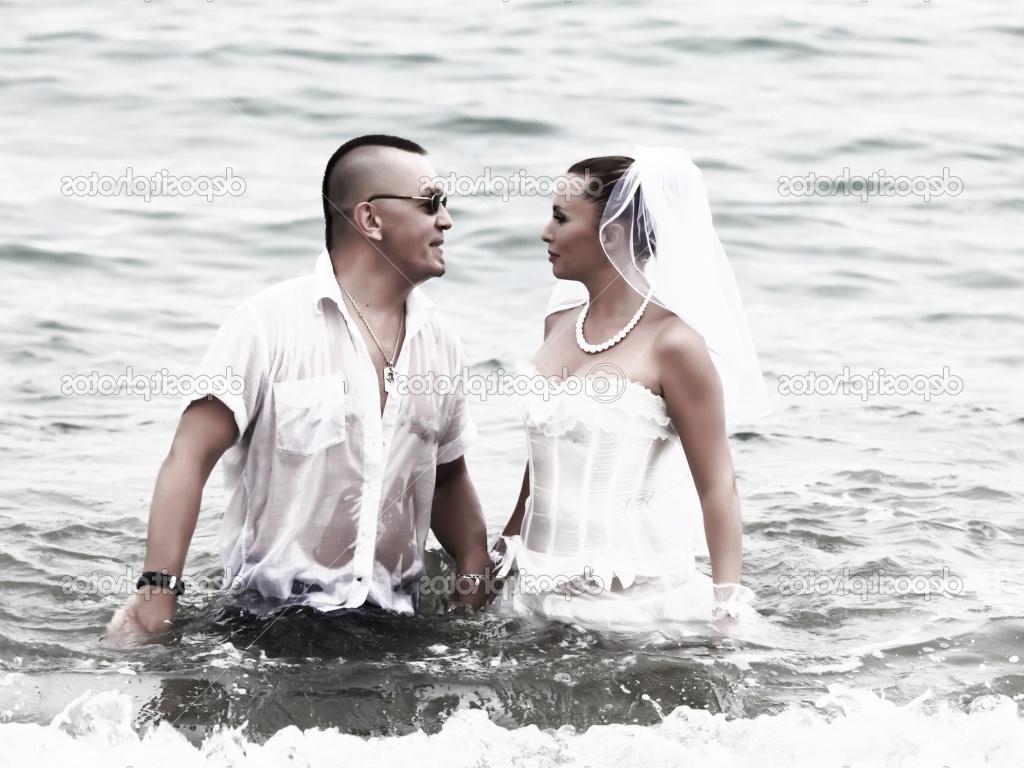 katherine heigl, teal wedding dress, Wedding on the tropical beach