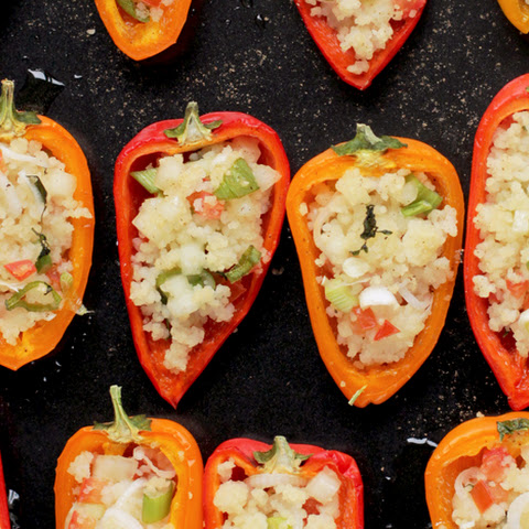 Cous Cous Mini Stuffed Peppers