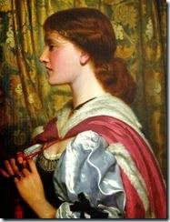 1x Charles Edward Perugini (Italian-born British painter, 1839-1918) Silvia 1889