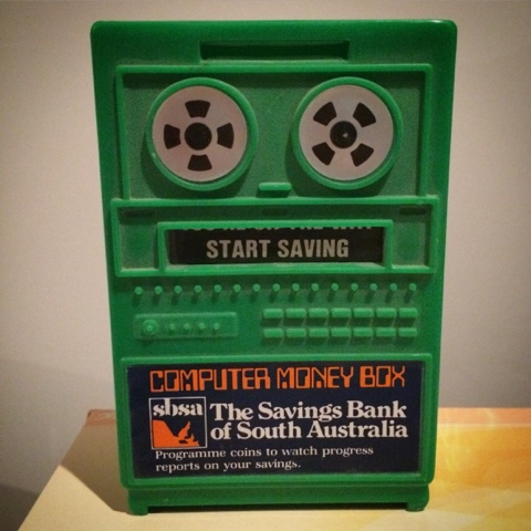 Savings Bank of South Australia retro vintage computer moneybox