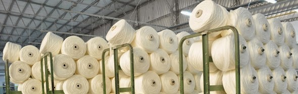 Hilos de algodón orgánico crudo