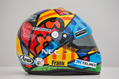 шлем Адриана Сутиля от всемирно известного бразильского поп-арт художника Ромеро Бритто для Гран-при Монако 2014