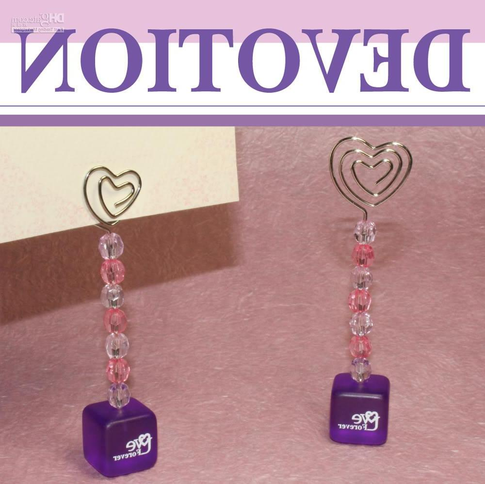 islestarwood StoreFREE SHIPPING!!40pcs x New Purple HeartPlace Card Holder