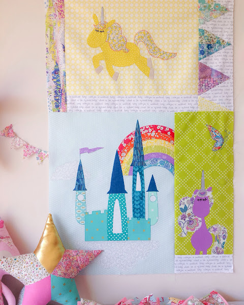 Unicornia Quilt Blocks || Pattern by Claire Turpin Designs