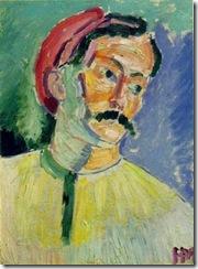Matisse, portrait of Andre Derain, 1905
