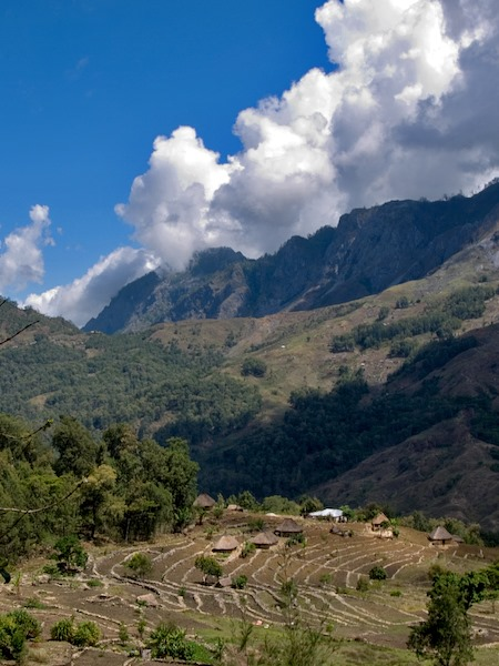 Mountains in Aileu, East Timor