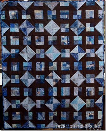 finished quilt front