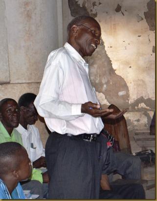 Rabai sharing testimony