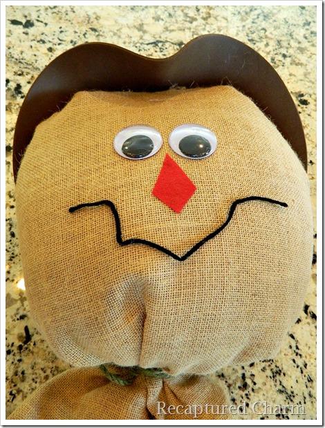 Burlap Scarecrow 12