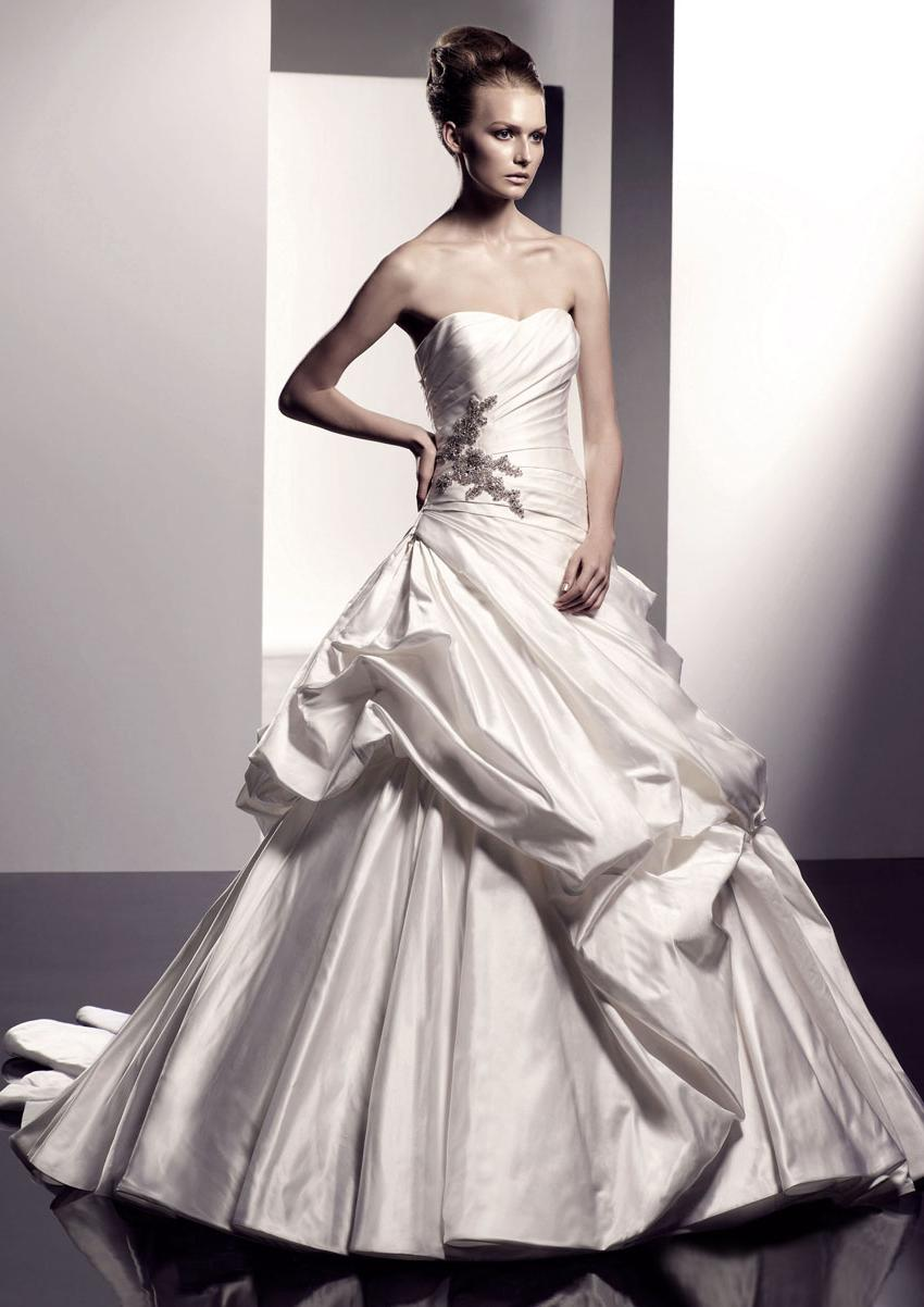 strapless ball gown ruched