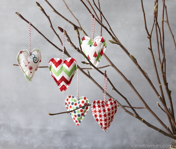 Anorina Pattern - Christmas Hanging Hearts