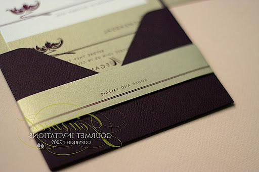 Gourmet Invitations belly band
