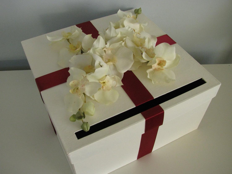 Antique White Wedding Card Box