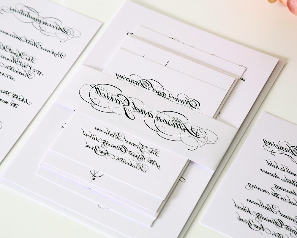Lorenes Blog Elegant Scroll Band EInvite Wedding Wedding Invitations Modern