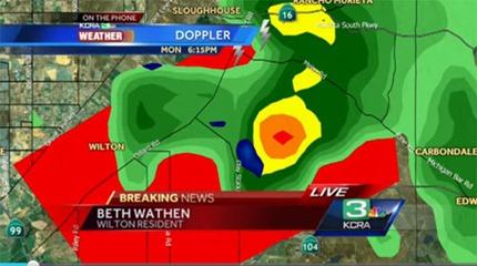Tornado Warning, KCRA